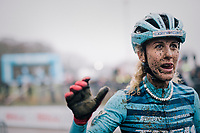 Former MTB World Champion Jolanda Neff (SUI/Trek Factory Racing) is trying cyclocross this winter... and impresses the competition by winning the GP Sven Nys (BEL) 2019<br /> <br /> DVV Trofee<br /> ©kramon