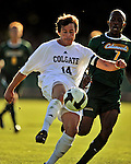 22 September 2008: Colgate University Raiders' defenseman Daniel Kerley, a Senior from Leawood, Kansas, in action against the University of Vermont Catamounts at Centennial Field, in Burlington, Vermont. The Raiders edged out the Catamounts 2-1, handing the Catamounts their first home loss of the 2008 season. ..Mandatory Photo Credit: Ed Wolfstein Photo