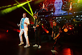 MIAMI BEACH, FL - FEBRUARY 12: Simon Le Bon, John Taylor, Roger Taylor, Dominic Brown and Nick Rhodes of Duran Duran perform at the Fillmore on February 12, 2019 in Miami Beach, Florida. Credit Larry Marano © 2019