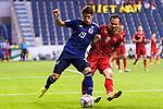 Sakai Hiroki of Japan (L) fights for the ball with Nguyen Trong Hoang of Vietnam (R) during the AFC Asian Cup UAE 2019 Quarter Finals match between Vietnam (VIE) and Japan (JPN) at Al Maktoum Stadium on 24 January 2019 in Dubai, United Arab Emirates. Photo by Marcio Rodrigo Machado / Power Sport Images