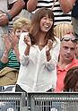 Mai Tanaka,<br /> SEPTEMBER 21, 2014 - MLB :<br /> Mai Tanaka, wife of Masahiro Tanaka of the New York Yankees, celebrates during the Major League Baseball game between the Toronto Blue Jays and the New York Yankees at Yankee Stadium in Bronx, New York, United States. (Photo by AFLO)