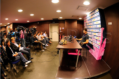 28.08.2013. Paris, France. Stade Francaise.  An official photograph of the stadium Jean Bouin set up for the 2013-14 season. Morne Steyn ( Stade Francais Paris )