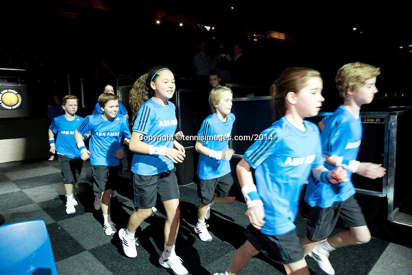 10-02-14, Netherlands,Rotterdam,Ahoy, ABNAMROWTT,Ballkids<br /> Photo:Tennisimages/Henk Koster