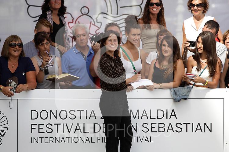 Spanish actress Aida Folch arrives to Maria Cristina hotel during the 61 San Sebastian Film Festival, in San Sebastian, Spain. September 26, 2013. (ALTERPHOTOS/Victor Blanco)