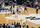 Mar. 4, 2013; Skylar Diggins celebrates against UConn...Photo by Matt Cashore/University of Notre Dame