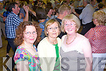 Nora Flanagan and Mary O'Connor from Mountcollins with Teresa Lenihan from Abbeyfeale enjoying the charity ceili held in Fr Casey's Abbeyfeale last Saturday night in aid of the Irish Cancer Society