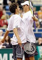 23-2-07,Tennis,Netherlands,Rotterdam,ABNAMROWTT, Haase and Bryan doing the body jump