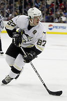 11 January 2006: Pittsburgh Penguins' Sidney Crosby plays against the Columbus Blue Jackets at Nationwide Arena in Columbus, Ohio.<br />