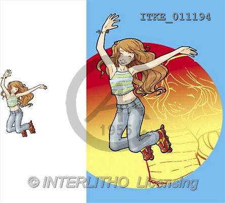 Isabella, TEENAGERS, paintings(ITKE011194,#J#) Jugendliche, jóvenes, illustrations, pinturas ,everyday