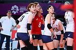 South Korea team group (KOR), <br /> SEPTEMBER 1, 2018 - Volleyball : <br /> Women's Bronze Medal match<br /> between Japan 1-2 Korea <br /> at Gelora Bung Karno Indoor Tennis Stadium <br /> during the 2018 Jakarta Palembang Asian Games <br /> in Jakarta, Indonesia. <br /> (Photo by Naoki Nishimura/AFLO SPORT)