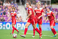 Orlando, FL - Saturday April 22, 2017: Shelina Zadorsky during a regular season National Women's Soccer League (NWSL) match between the Orlando Pride and the Washington Spirit at Orlando City Stadium.