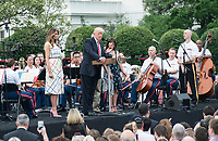 Washington  DC, June 22, 2017, USA: President Donald J trump and First Lady Melania welcome Members of the US House and Senate to the annual Congressiional White House picnic on the South Lawn of the White House.  Patsy Lynch/MediaPunch