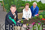 OFFICIALLY OPENED: Michael Finneran TD officially opened the Moyderwell allotments in Dean's Lane on Friday. PIctured l-r: Junior Locke, Poppy Cregan and Brendan Cregan