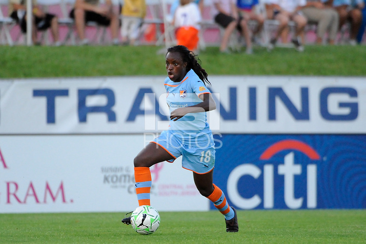 Eniola Aluko (18) of Sky Blue FC. Sky Blue FC defeated the Boston Breakers 2-1 during a Women's Professional Soccer (WPS) match at Yurcak Field in Piscataway, NJ, on May 28, 2011.