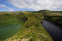Caldeira Comprida und Caldeira Funda auf der Insel Flores, Azoren, Portugal