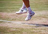 Den Bosch, Netherlands, 10 June, 2016, Tennis, Ricoh Open, shoes on grascourt<br /> Photo: Henk Koster/tennisimages.com