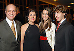 George R. Diaz-Arrastia with his wife Maria and children Rebecca and Robert at the Hispanic Chamber of Commerce's annual Triunfando Awards Show and Dinner at the Hobby Center Saturday Nov. 14,2009. (Dave Rossman/For the Chronicle)