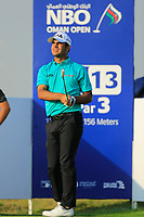 Subhankar Sharma (IND) during the first round of the NBO Open played at Al Mouj Golf, Muscat, Sultanate of Oman. <br /> 15/02/2018.<br /> Picture: Golffile   Phil Inglis<br /> <br /> <br /> All photo usage must carry mandatory copyright credit (&copy; Golffile   Phil Inglis)