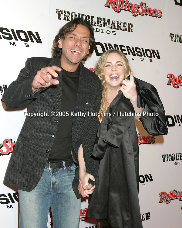 "Melissa George and Husband.""Sin City"" Premiere.Mann's National Theater.Westwood, CA.March 28, 2005.©2005 Kathy Hutchins / Hutchins Photo..."
