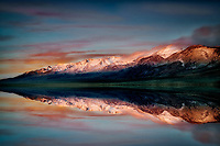 Mann Lake and Steens Mountain at sunrise, Oregon