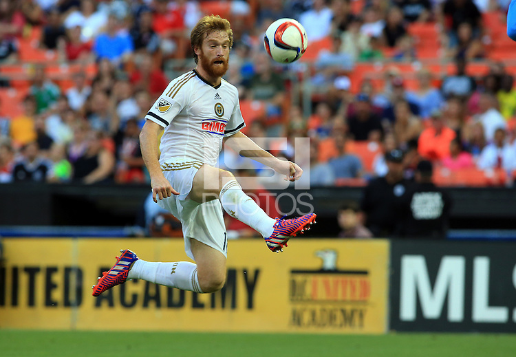 Washington, D.C. - Saturday, May 30, 2015: DC United defeated the Philadelphia Union 2-1 in a MLS match at RFK Stadium.