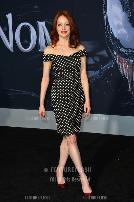 """LOS ANGELES, CA. October 01, 2018: Elizabeth J. Carlisle at the world premiere for """"Venom"""" at the Regency Village Theatre.<br /> Picture: Paul Smith/Featureflash"""
