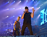 "CANARY ISLANDS, SPAIN - SEPTEMBER 9: Singer Ricky Martin is seen performing at the Estadio Gran Canaria, Canary Islands, Spain on September 9, 2016. Martin offers two concert in his ""World Tour"" program, as part of his European tour. Credit: Jorge Rey/MediaPunch"