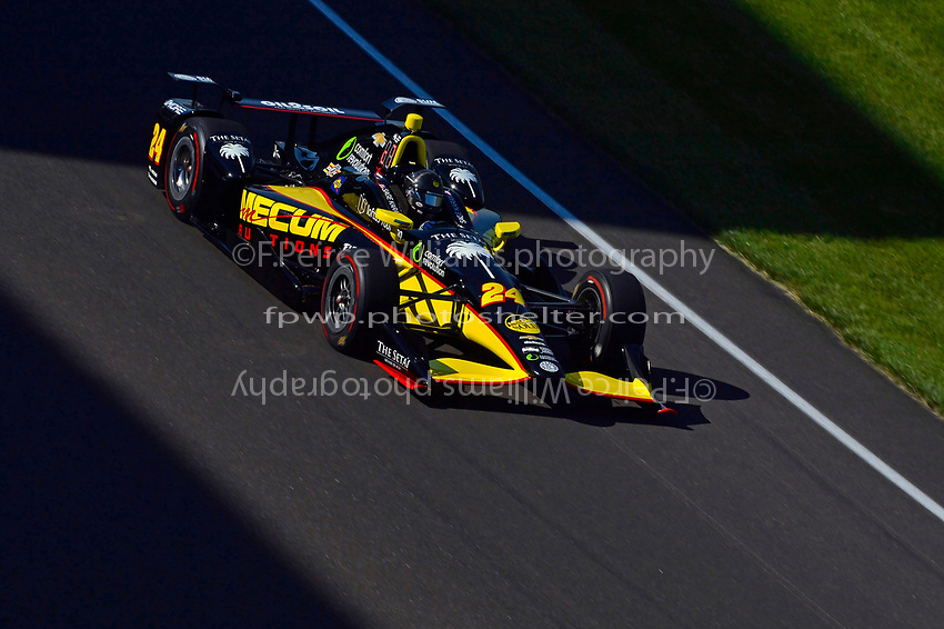 Verizon IndyCar Series<br /> Indianapolis 500 Practice<br /> Indianapolis Motor Speedway, Indianapolis, IN USA<br /> Monday 15 May 2017<br /> Sage Karam, Dreyer &amp; Reinbold Racing Chevrolet<br /> World Copyright: F. Peirce Williams