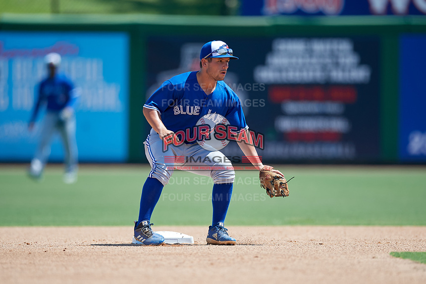Toronto Blue Jays second baseman Davis Schneider (5) during an Instructional League game against the Philadelphia Phillies on September 17, 2019 at Spectrum Field in Clearwater, Florida.  (Mike Janes/Four Seam Images)