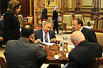 Newly members of the Egyptian Representatives council extract of their identity cards for Representatives council in Cairo, Egypt, on Dec. 09, 2015. Photo by Stranger