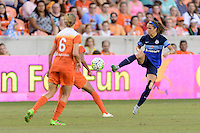 Houston, TX - Sunday June 19, 2016: Shea Groom during a regular season National Women's Soccer League (NWSL) match between the Houston Dash and FC Kansas City at BBVA Compass Stadium.