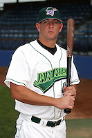 September 6 2008:  Brian Schultz of the Jamestown Jammers, Class-A affiliate of the Florida Marlins, during a game at Russell Diethrick Park in Jamestown, NY.  Photo by:  Mike Janes/Four Seam Images