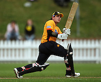 BJ Crook watches his shot get caught on the boundary by George Worker during the State Shield cricket match between the Wellington Firebirds and Central Stags at Allied Prime Basin Reserve, Wellington, New Zealand on Sunday, 11 January 2009. Photo: Dave Lintott / lintottphoto.co.nz