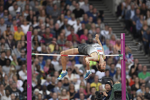 August 12th 2017, London Stadium, East London, England; IAAF World Championships, Day 9;  Germany's Mateusz Przybylko in action in high jump at the IAAF London 2017 World Athletics Championships in London, United Kingdom, 13 August 2017.
