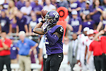 TCU Horned Frogs quarterback Trevone Boykin (2) in action during the game between the SMU Mustangs and the TCU Horned Frogs at the Amon G. Carter Stadium in Fort Worth, Texas. TCU defeats SMU 48 to 17.