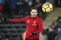 Danny Ings of Liverpool ahead of the Premier League match between Swansea City and Liverpool at the Liberty Stadium, Swansea, Wales on 22 January 2018. Photo by Mark Hawkins / PRiME Media Images.