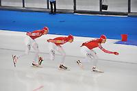 SCHAATSEN: BERLIJN: Sportforum, 07-12-2013, Essent ISU World Cup, Team Russia, ©foto Martin de Jong