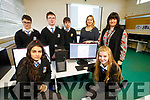 Pictured on Tuesday morning, at Coláiste na Ríochta, Listowel, who announced that they are one of 40 schools in Ireland to study Computer Science for the Leaving Certificate 2020, front l-r: Martina Bajgerova and Kaoife Carey. Back l-r; Mateusz Waloszek, Daniel Ahern, Nikos Szejpo, Iseult Glynn (Deputy Principal) and Elaine O'Connor (Computer Science Teacher).