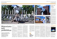 Helsingin Sanomat (leading Finnish daily) on the Hungarian right-wing's historical monument agenda, September 2016<br /> Photos: Martin Fejer