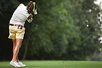 Gerina Mendoza tees off on the 15th hole at Alliance Bank Golf Classic in Syracuse NY.