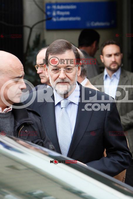 Prime Minister of Spain Mariano Rajoy visit King Juan Carlos of Spain at Quiron Hospital in Madrid. November 25 , 2012. (ALTERPHOTOS/Caro Marin) /NortePhoto