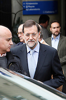 Prime Minister of Spain Mariano Rajoy visit King Juan Carlos of Spain at Quiron Hospital in Madrid. November 25 , 2012. (ALTERPHOTOS/Caro Marin) /NortePhoto