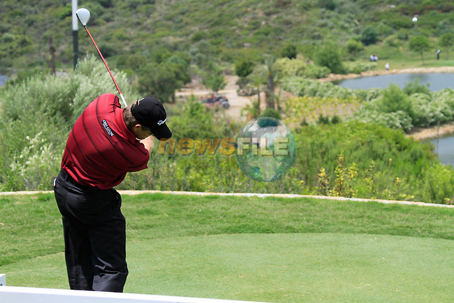 Retief Goosen (RSA) teeing off on the par3 4th tee during Day 1 of the Volvo World Match Play Championship in Finca Cortesin, Casares, Spain, 19th May 2011. (Photo Eoin Clarke/Golffile 2011)