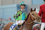 HOT SPRINGS, AR - FEBRUARY 19: Hawaakom #3, with jockey Corey Lanerie aboard after winning the Razorback Handicap at Oaklawn Park on February 19, 2018 in Hot Springs, Arkansas. (Photo by Justin Manning/Eclipse Sportswire/Getty Images)