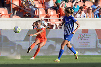Houston, TX - Sunday Sept. 11, 2016: Poliana Barbosa during a regular season National Women's Soccer League (NWSL) match between the Houston Dash and the Boston Breakers at BBVA Compass Stadium.