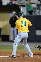 Siena Saints infielder Alex Tuccio (20) during the season opening game against the Central Florida Knights at Jay Bergman Field on February 14, 2014 in Orlando, Florida.  UCF defeated Siena 8-1.  (Mike Janes/Four Seam Images)