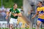 Stephen O'Brien, Kerry in action against Dean Ryan, Clare in the Munster Senior Championship Semi Final in Cusack Park, Ennis on Sunday.