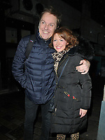 Brian Conley and Bonnie Langford at the &quot;9 To 5 The Musical&quot; theatre cast stage door departures after the evening performance, Savoy Theatre, The Strand, London, England, UK, on Tuesday 05th February 2019.<br /> CAP/CAN<br /> &copy;CAN/Capital Pictures