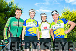 l-r  Tommy Sheehy, Brian Kearney, Michelle Kearney and Dan Leahy. at the Finuge Freewheelers  Ring of North Kerry 2016 Cycle on Saturday