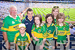 Joe Lynch, Winton Gali Valentia, Daniel, Joanne Kathleen  Finegan, Libby and Ruth McCrothan Tralee, Supporting Kerry at Croke park on Sunday.